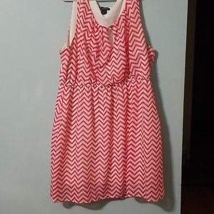 Women pink and white summer dress